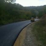 Мост и асфалтни пут у Миличиници