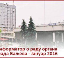 Информатор о раду органа града Ваљева