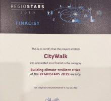 Пројекат CITY WALK у финалу REGIOSTARS AWARDS2019.