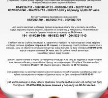 Важни бројеви телефона за позиве грађана
