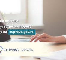 Решења о утврђеном порезу на имовину грађани добијају у електронско сандуче на Порталу еУправа